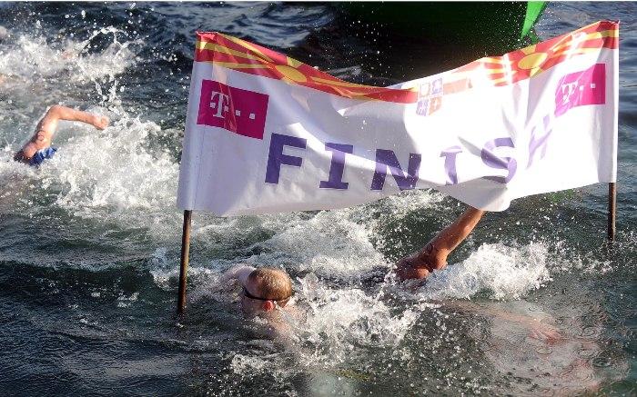 Belgian swimmer wins the Ohrid marathon