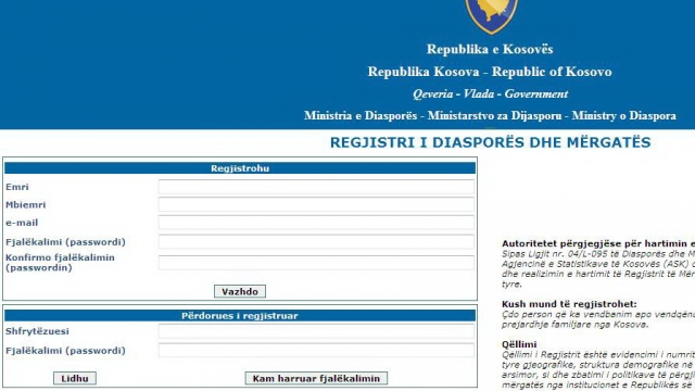 Premier Thaci invites the Diaspora to register online