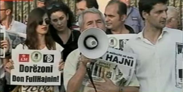Protest in front of the Bank of Albania, citizens: Fullani leave