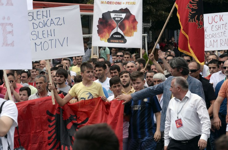 Two protests held today in Skopje