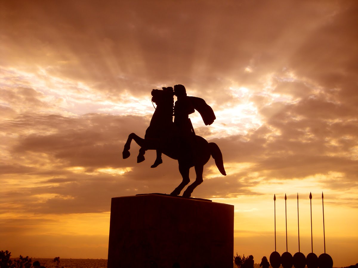New Democracy MPs asking for the placement of a statue of Alexander the Great
