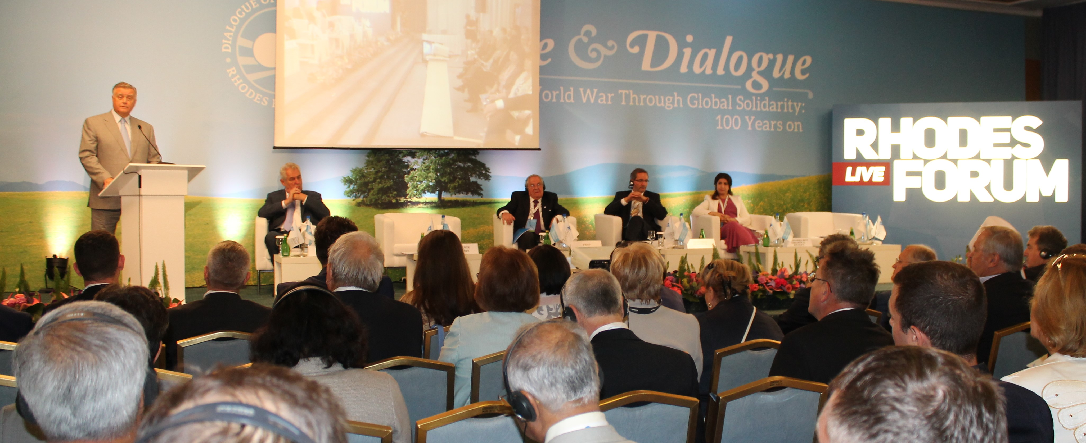 Preventing World War Through Global Solidarity: 100 years on – Rhodes Forum-2014 started its work