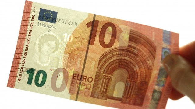 The new 10-euros bill has gone to print