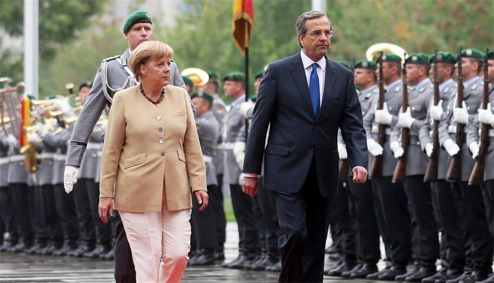 Athens & Berlin play down importance of Samaras – Merkel meeting