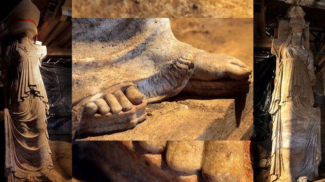 The Caryatids of Amphipolis are revealed