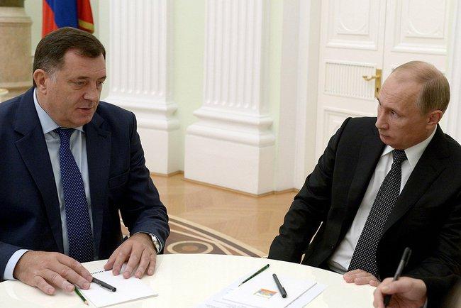 Republic of Srpska delegation meets with Russian president Vladimir Putin