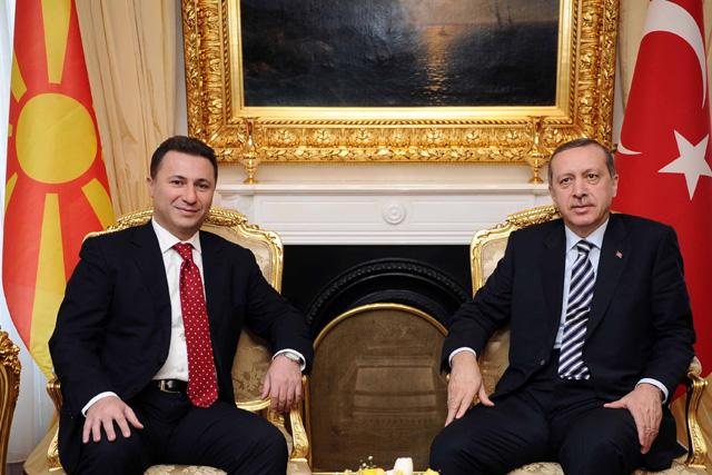 Gruevski meets Davutoglu and Erdogan in Ankara
