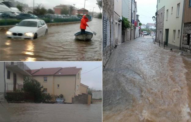Parts of Croatia get hit hard by heavy rainfall