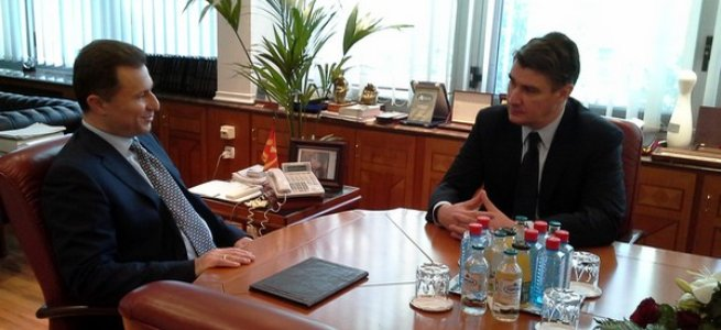 Prime Minister Zoran Milanovic on an official visit to FYR Macedonia