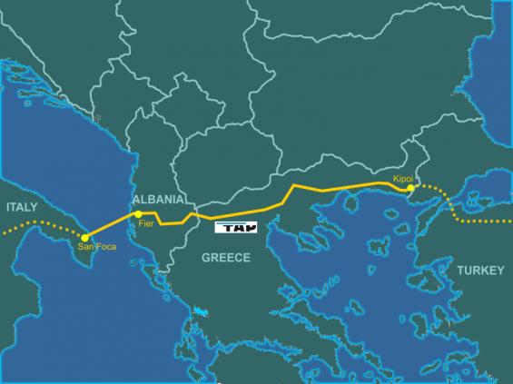 Construction of Trans Atlantic Pipeline starts from Albania
