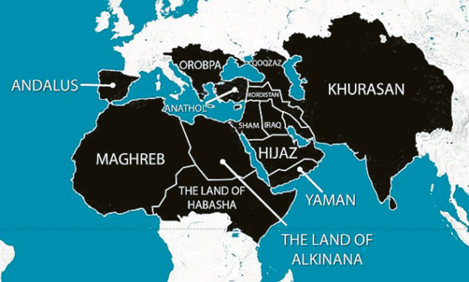 Greece in the map of Islam as OROBPA of the Balkans