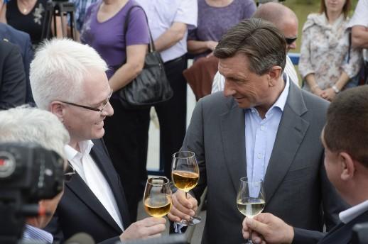 Presidents of Croatia and Slovenia mark border cooperation