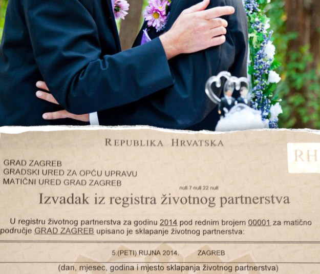 First same sex partnership certificate in Croatia is a fact