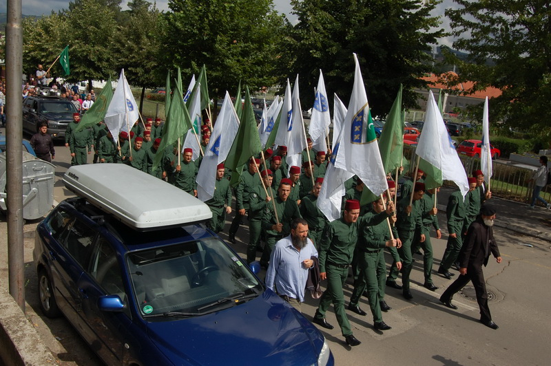 "Green uniforms parade ""prelude for conflict escalation"""