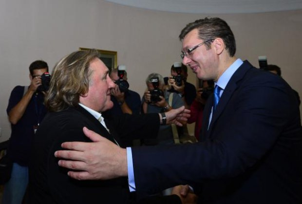 Vucic engages Depardieu to promote Serbia in the world