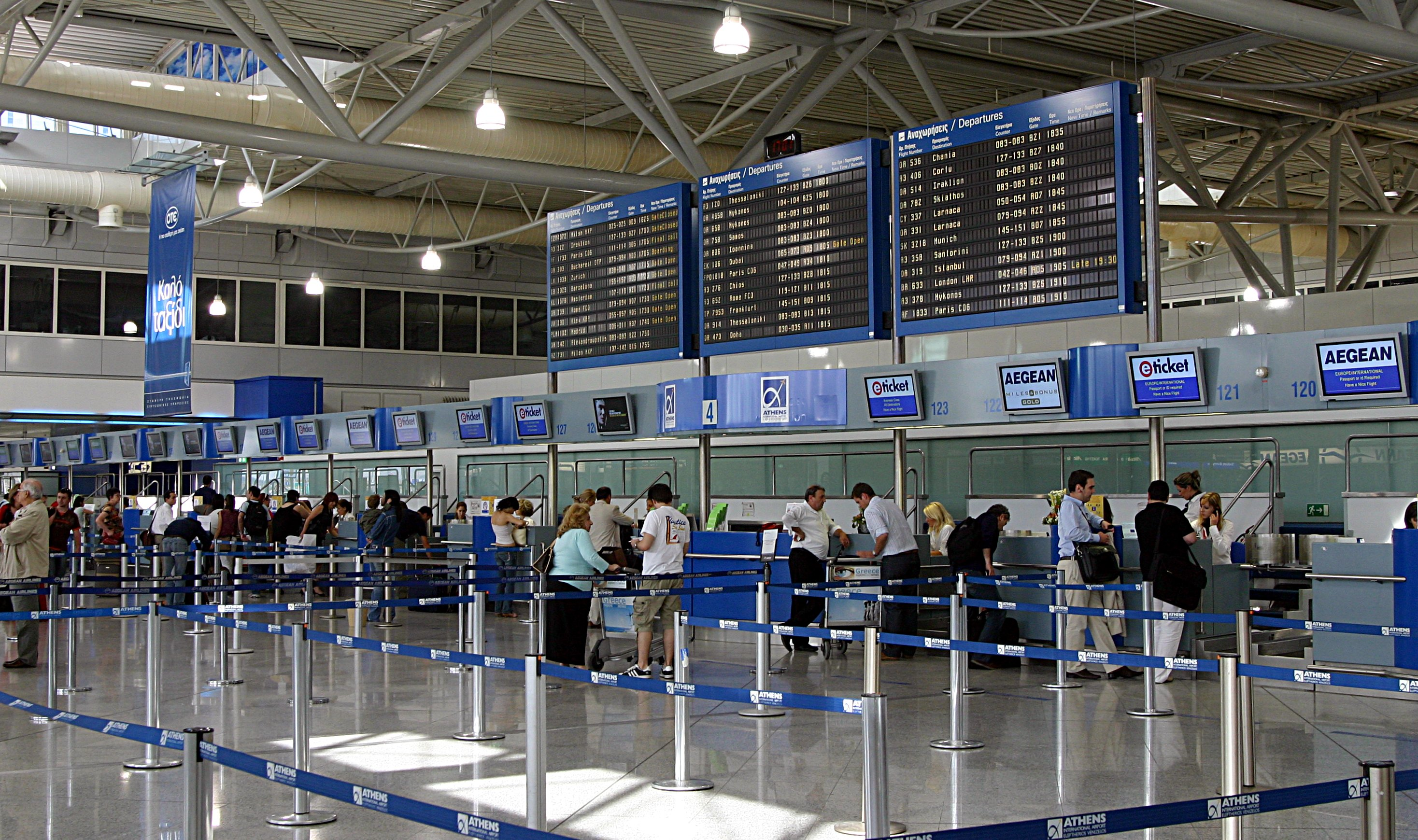 Passenger traffic in El. Venizelos airport increased by 23% in August