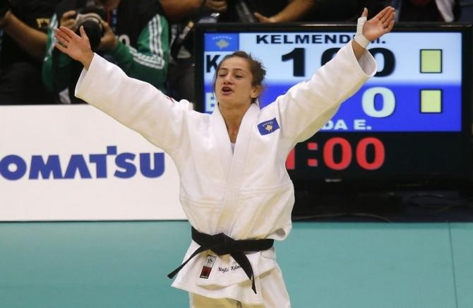 Majlinda Kelmendi is announced champion in Abu Dhabi