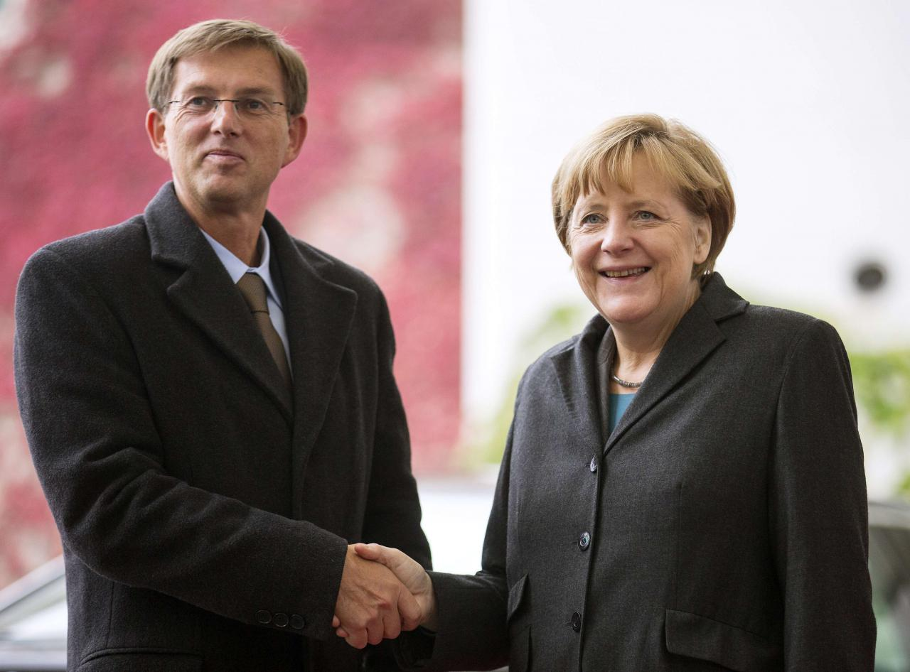 Slovenian PM on an official visit to Berlin