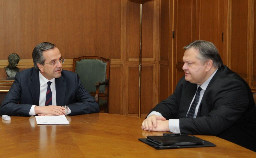 Samaras-Venizelos meeting for the Cyprus issue