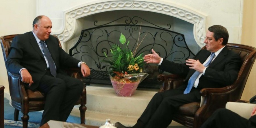 Egyptian Foreign Minister meets with Cypriot President