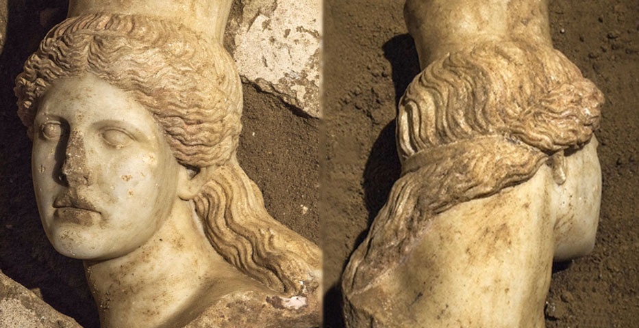 Archeologists have found the head of one of the Sphinxes in Amphipolis