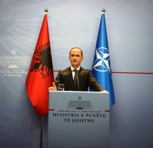 Foreign Minister expresses Albania's stance on the Belgrade incident