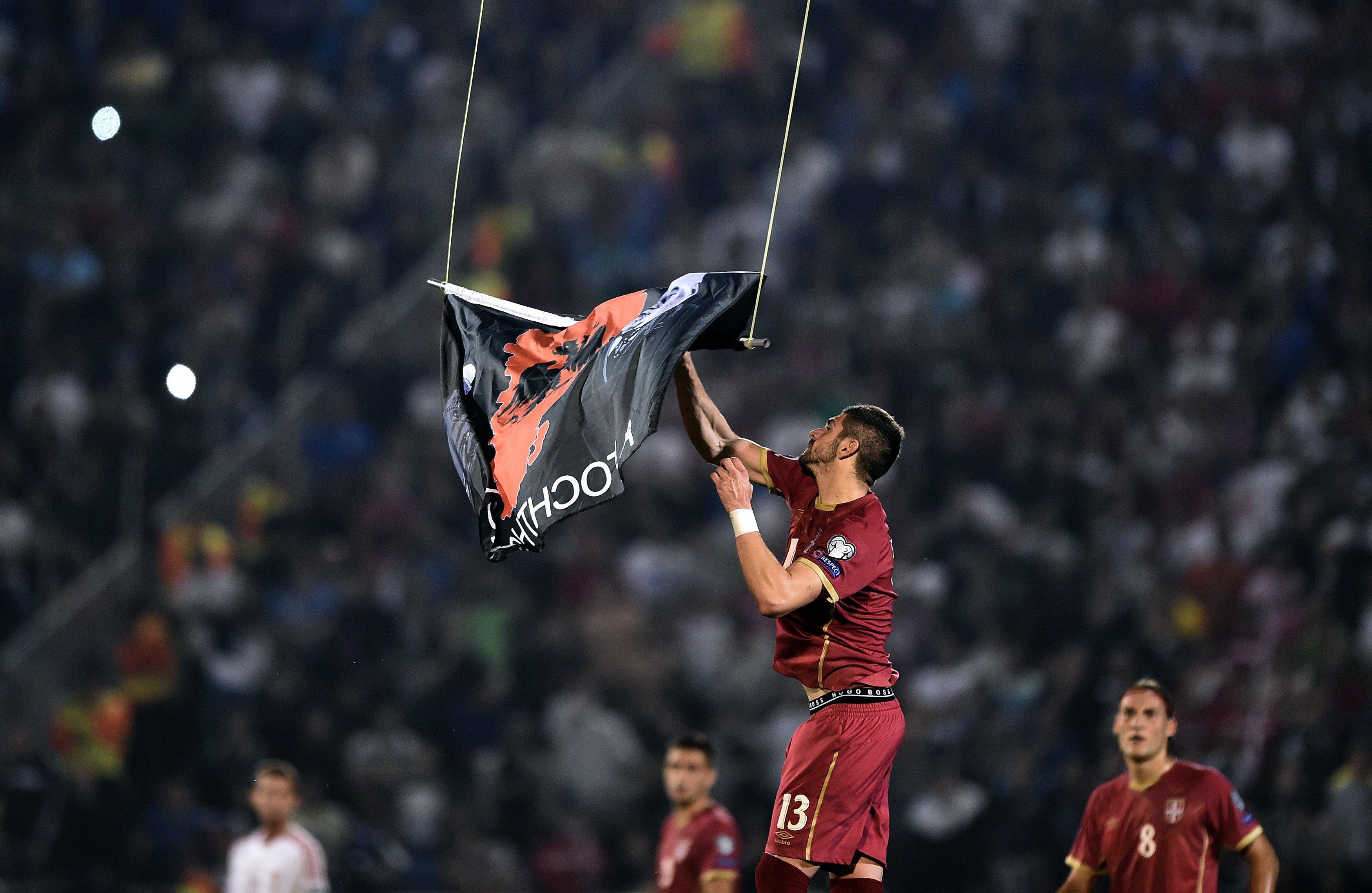 Rama's brother provokes chaos at Belgrade stadium