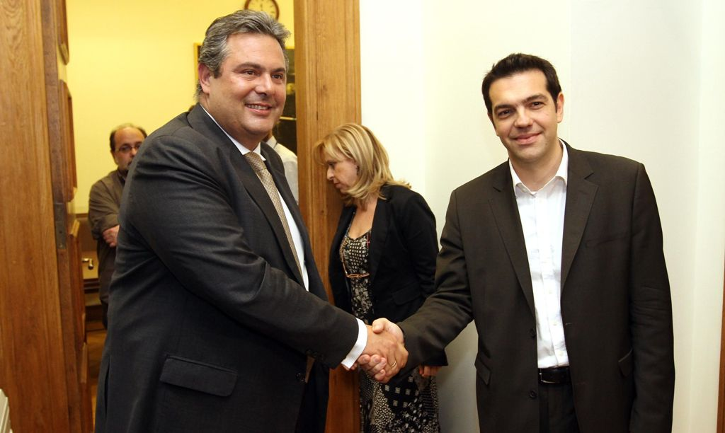 'Red' loans to dominate the meeting between Tsipras and Kammenos