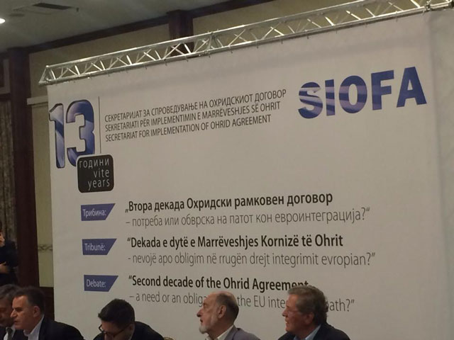 Progress report addresses the issue of the Ohrid Agreement