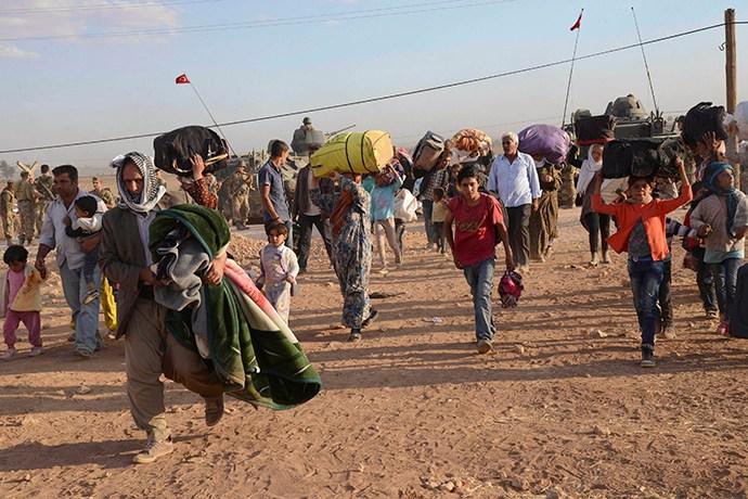"Kurds Protest in ""Propylaia"" for Kobani"