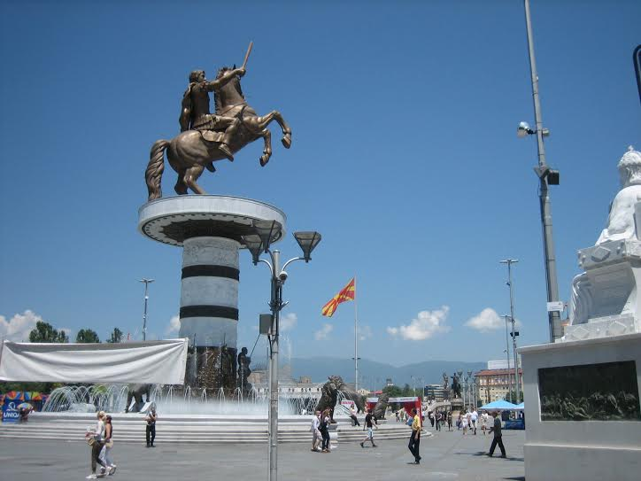"""""""Skopje 2014"""" is an exaggerated project, Greek students say"""
