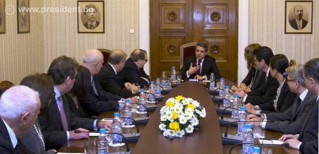 Bulgaria's President Plevneliev meets ADL: 'Anti-Semitism, hatred and intolerance must be fought daily'