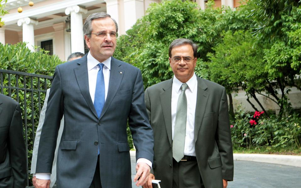 Samaras-Hardouvelis meeting focused on the Troika