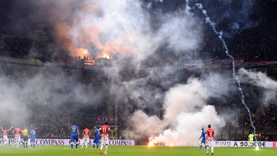 Croatia-Italia football match draw stays in the shadow of outraged fans