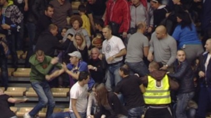 Thirteen arrested after brawl at Levski – Partizan Belgrade basketball match