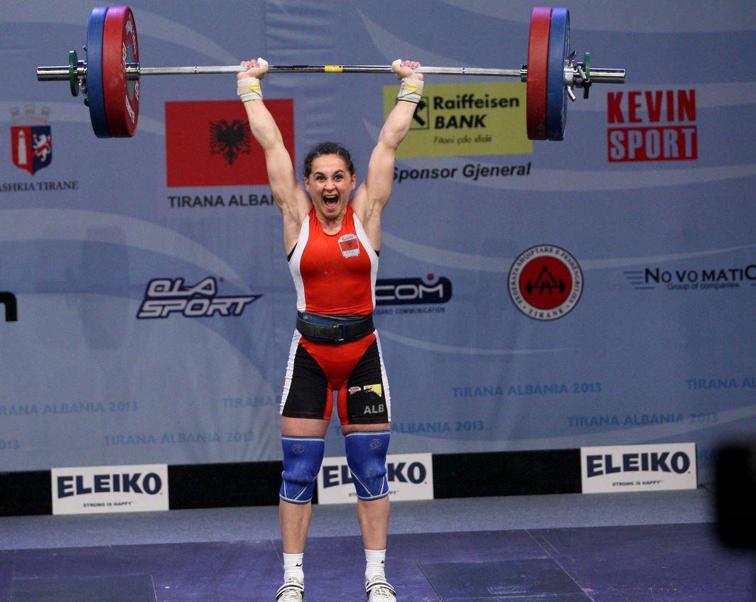Albanian female weightlifter Romela Begaj announced world champion