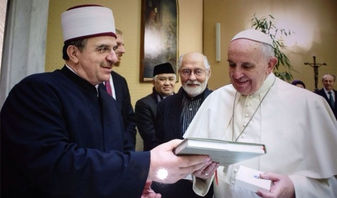 Kosovo's Mufti thanks the Pope for the contribution given for Kosovo
