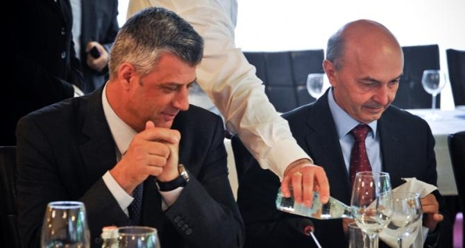 PM Thaci and opposition leader Mustafa together in Brussels