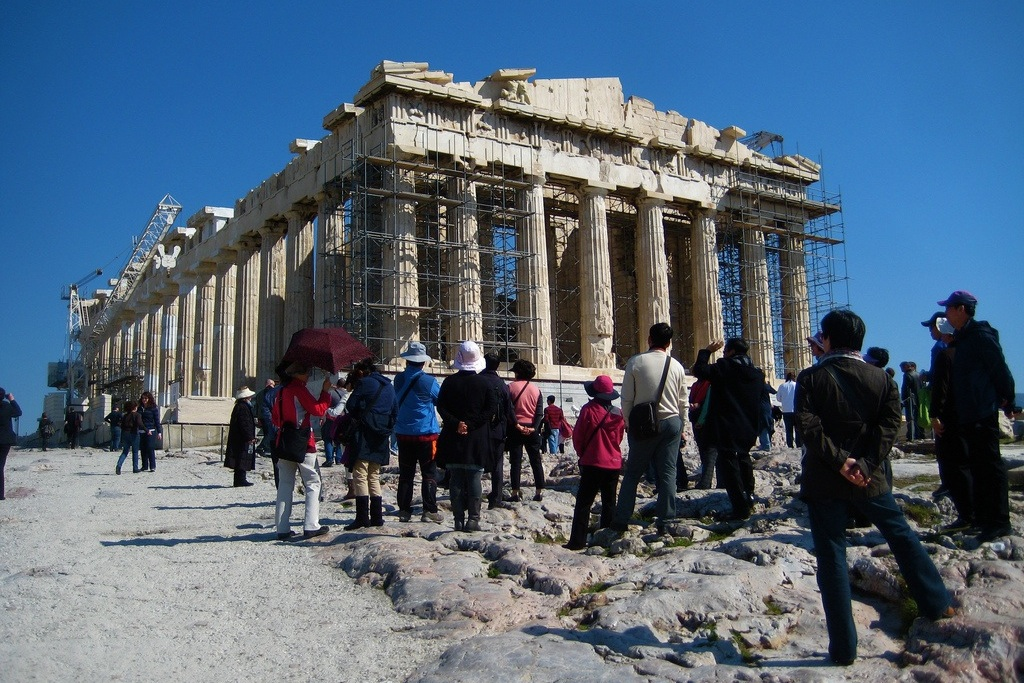 Around 23 million tourists visited Greece in 2014