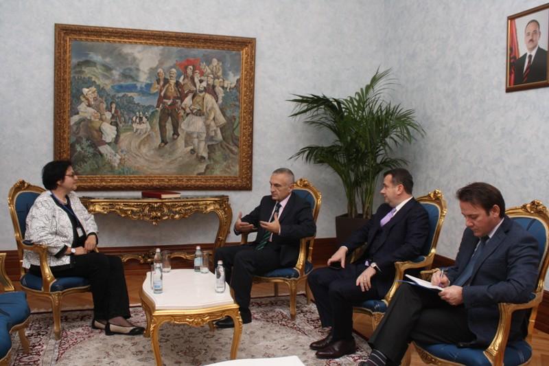 Deputy speaker of the Albanian parliament Gordana Comic visits Albania