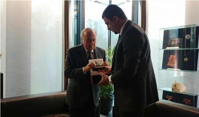 Blatter promises that Kosovo will soon be part of FIFA