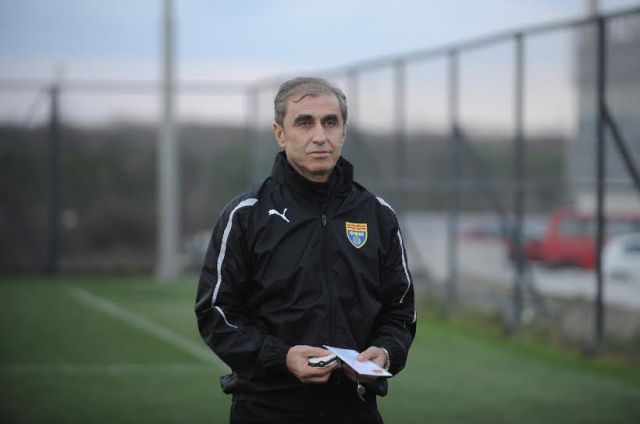 FYROM's national team makes preparations for the next fixture against Slovakia