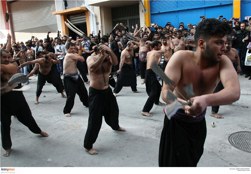 Greece: Dozens of shiites Muslims celebrated the Day of Ashura in Piraeus