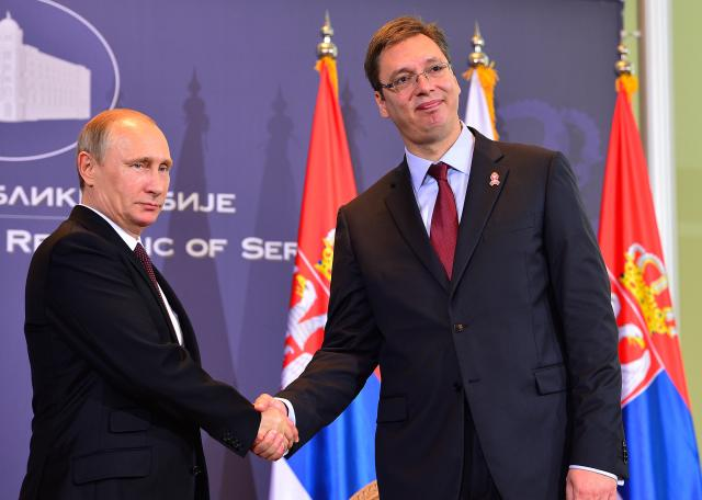 Vucic to settle Serbia's gas debt with Putin