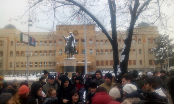Students hold fresh protests in Skopje against the state exam