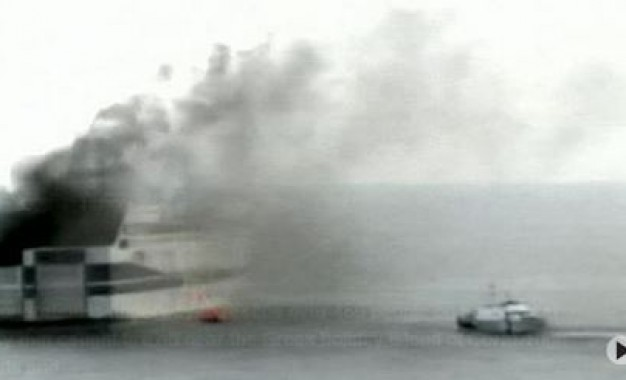 Man dies trying to leave burning 'Norman Atlantic' ferry; evacuation continues