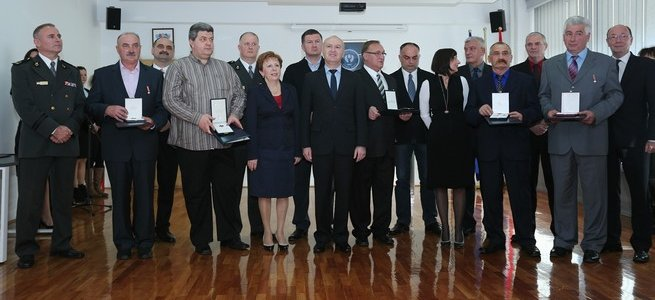 Minister Matic decorated nine veterans of the Homeland War