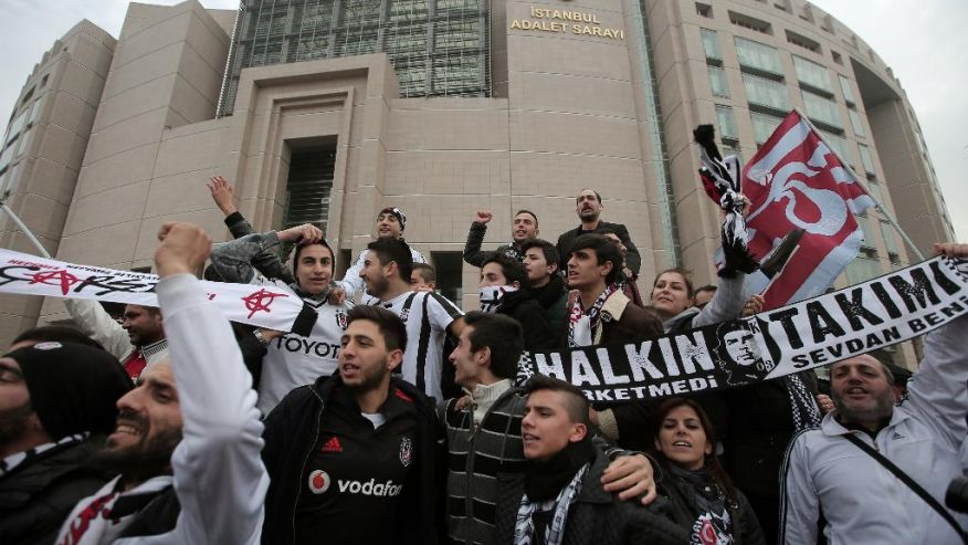 Besiktas' supporters accused of attempting a coup against the Erdogan government