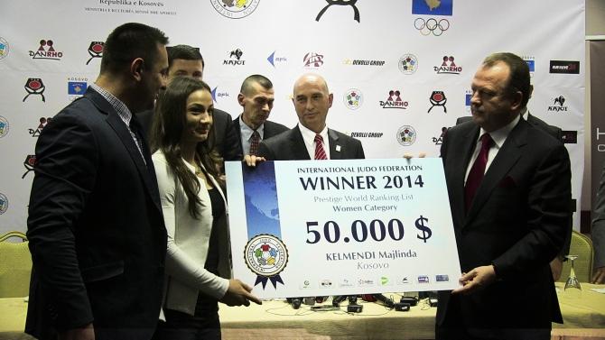 Majlinda Kelmendi announced the best judo fighter in the world