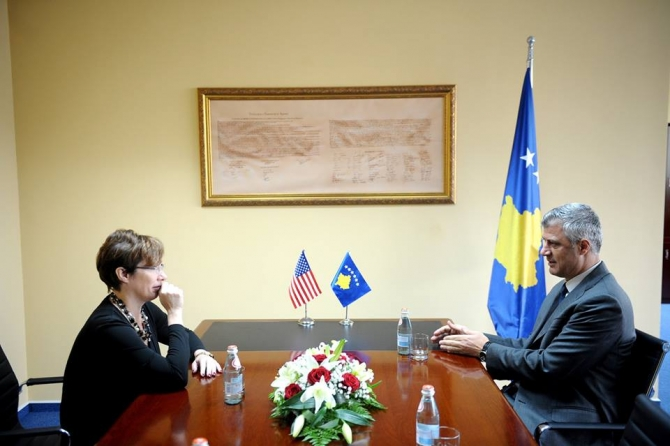 Foreign Minister Thaci assures the US ambassador about the rule of law and continuation of dialogue